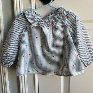 Gap Stripe and Heart Blouse